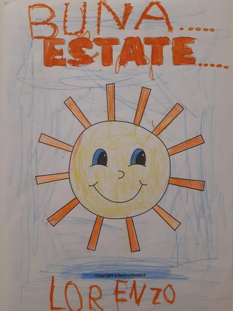 Disegno sole con scritta buona estate