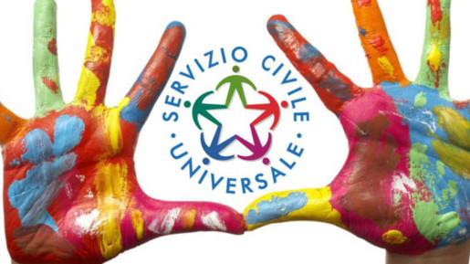 Mani dipinte con in mezzo logo servizio civile